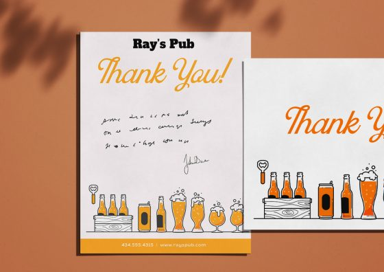pub greeting card