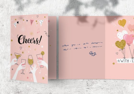 cheers folded greeting card