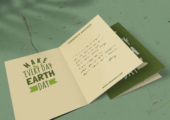 earth day folded greeting card