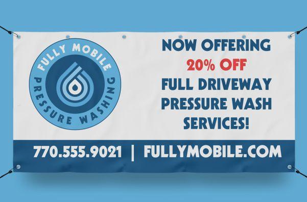 pressure washing service banner