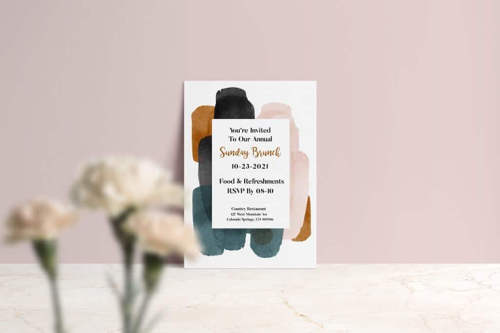 custom brunch invitations