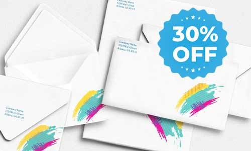 envelopes 30% off sale