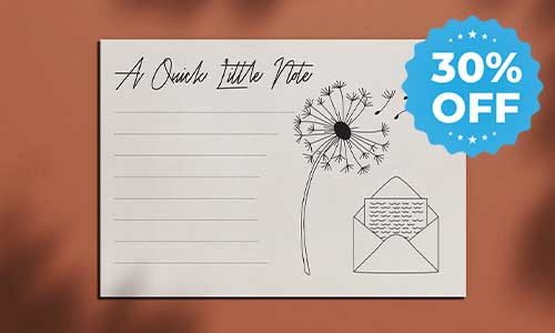 notecards sale image 30% off