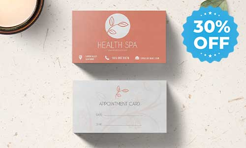 30% off sale appointment cards