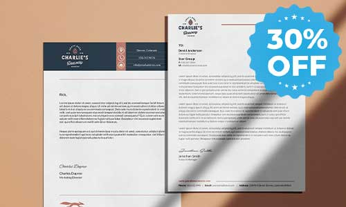 30% off sale letterhead