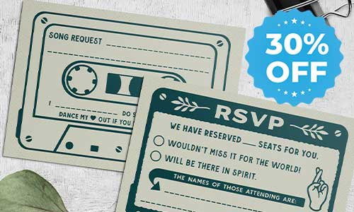 RSVP response cards 30 off sale
